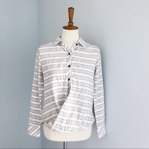 Vacate The Label Striped Collared Blouse Size XS